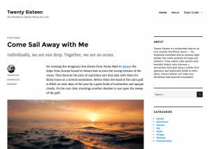 Wordpress Alap Sablon 2016