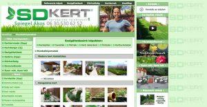 kertrendezés - egy példa az elavult, hatékony webdesignra