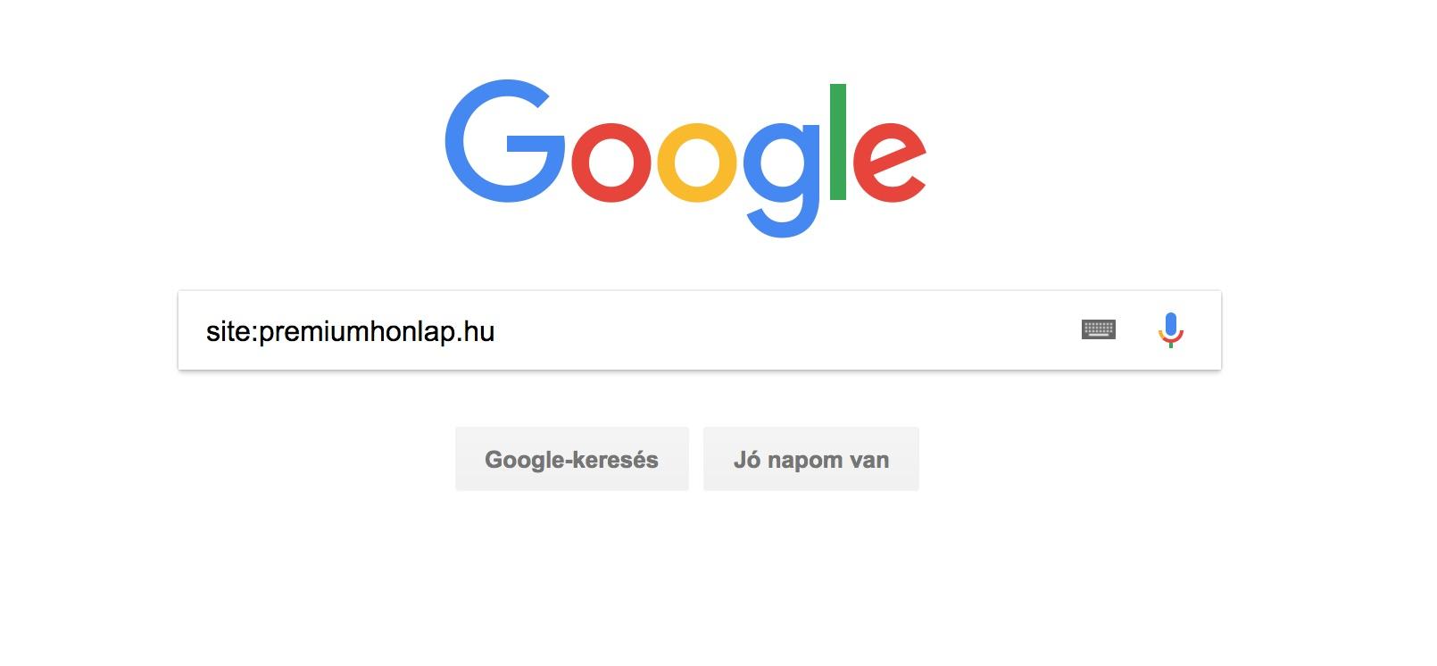 Google indexelhetőség ellenőrzése