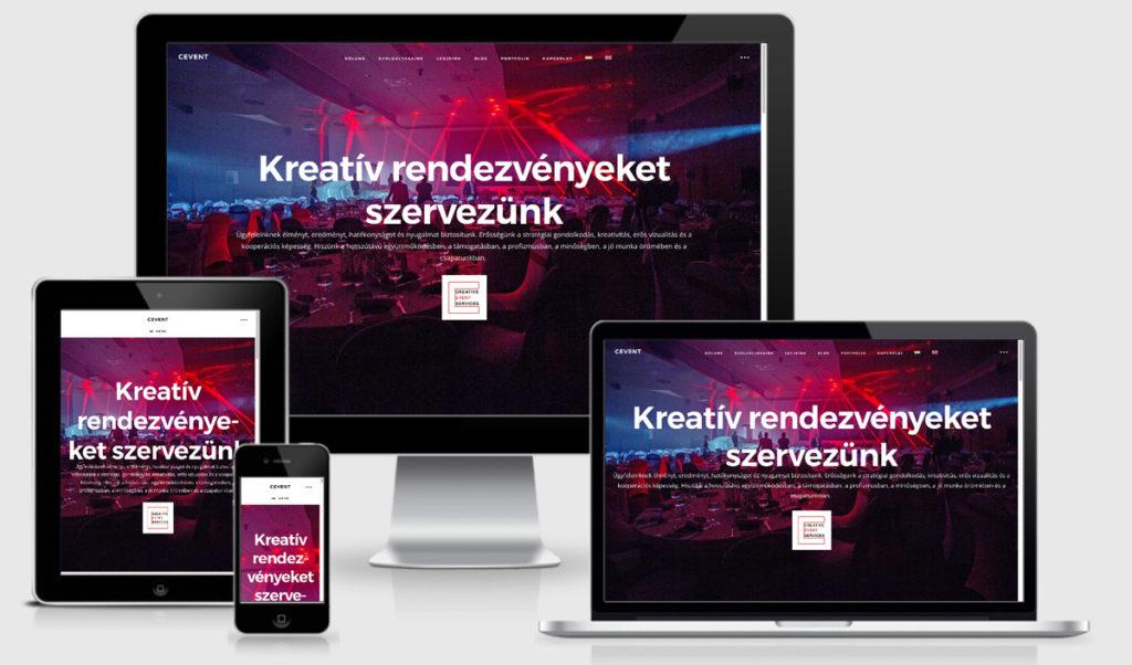Cevent weboldal